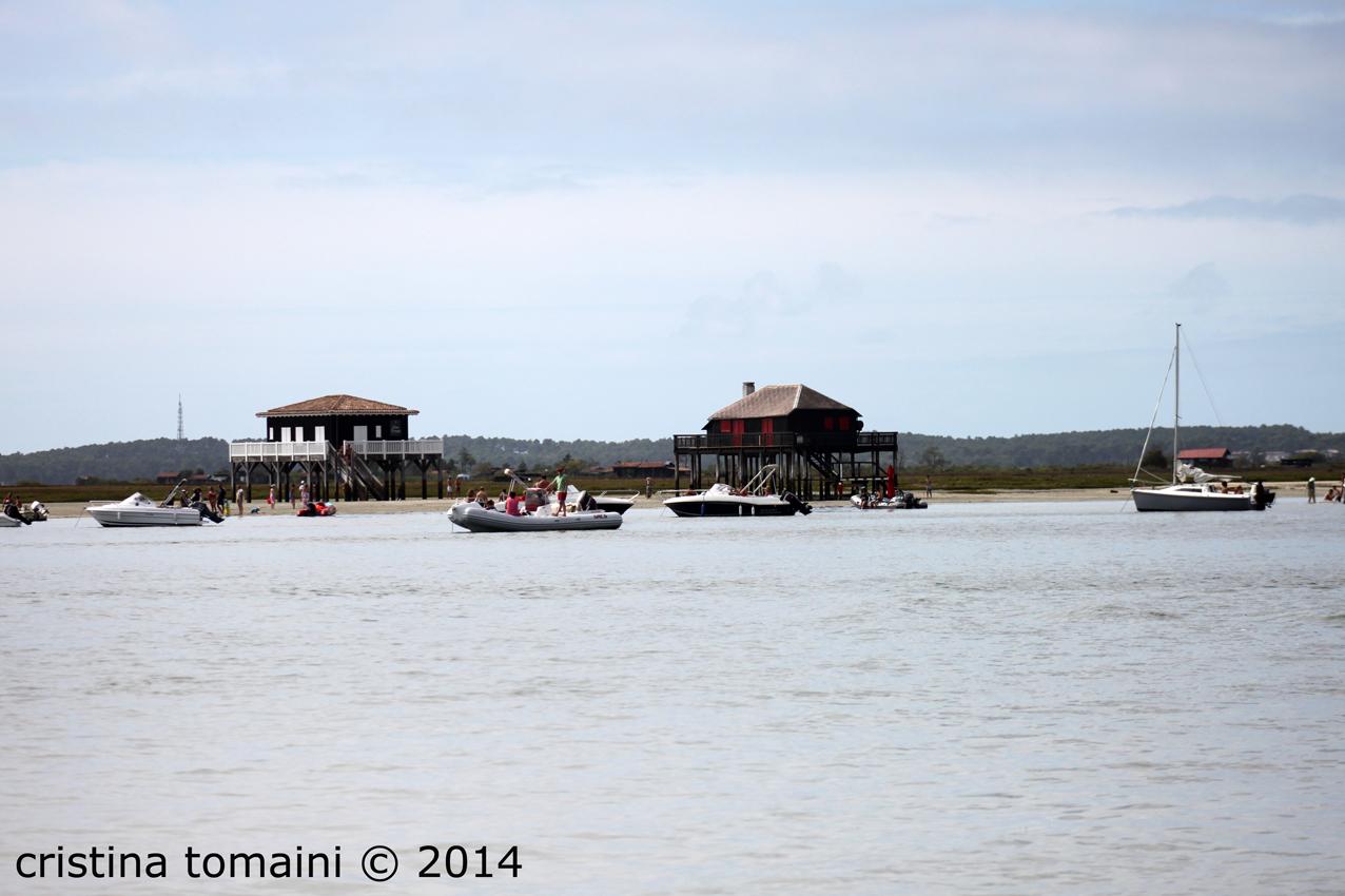 le cabanes tchanquées, palafitte sul bacino di Arcachon