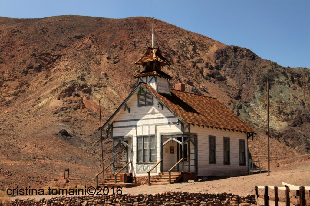Calico Ghost Town, la ricostruzione della vecchia scuola