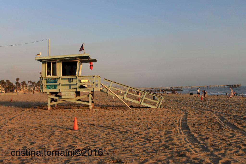 le torrette, viste tante volte in Baywatch, a Santa Monica