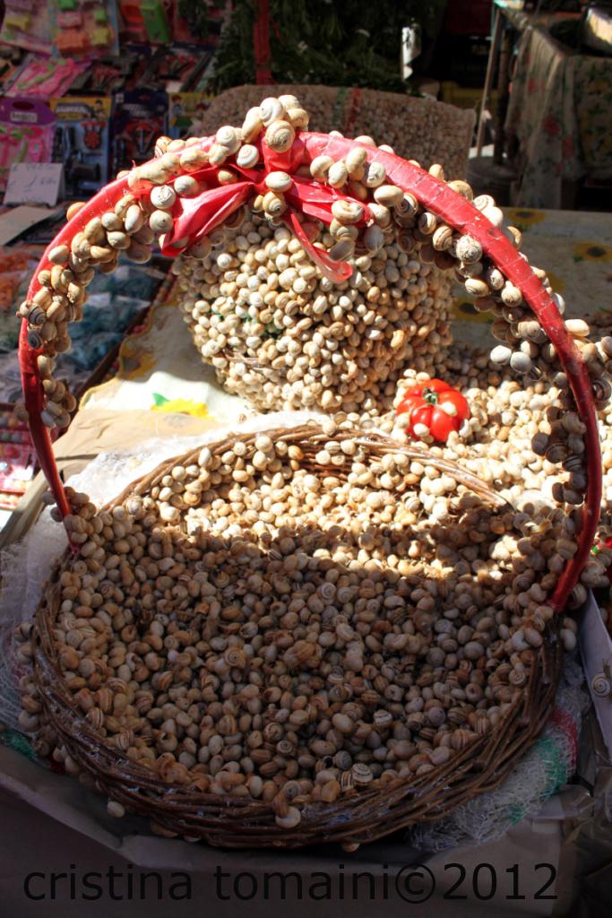 mercato di Ballarò, lumache