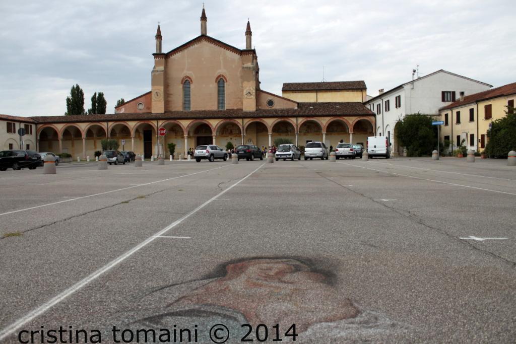 la piazza dei madonnari di Grazie di Curtatone
