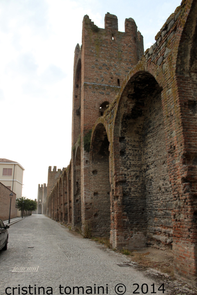 le mura all'interno di Montagnana