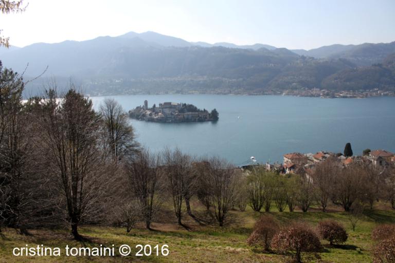 la piccola isola di Orta San Giulio
