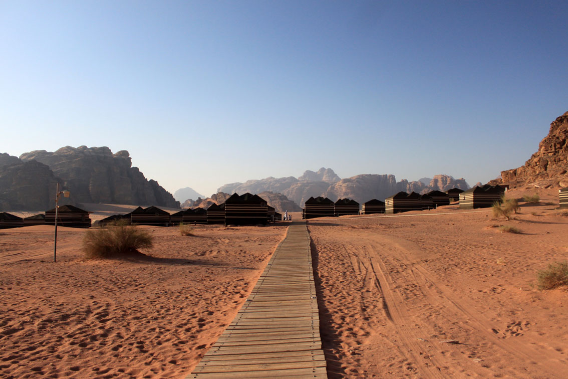 campo tendato nel Wadi Rum