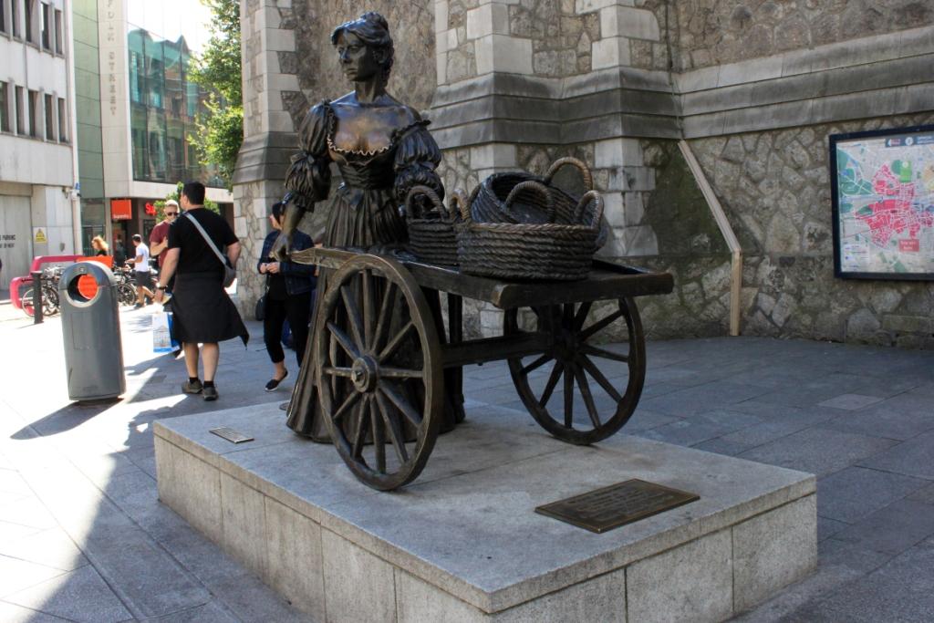 La statua dedicata a Molly Malone